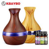 Kbaybo usb umidificador de ar com essencial lavanda lemongrass alecrim óleos 300ml aroma forte névoa criador difusor de óleo essencial