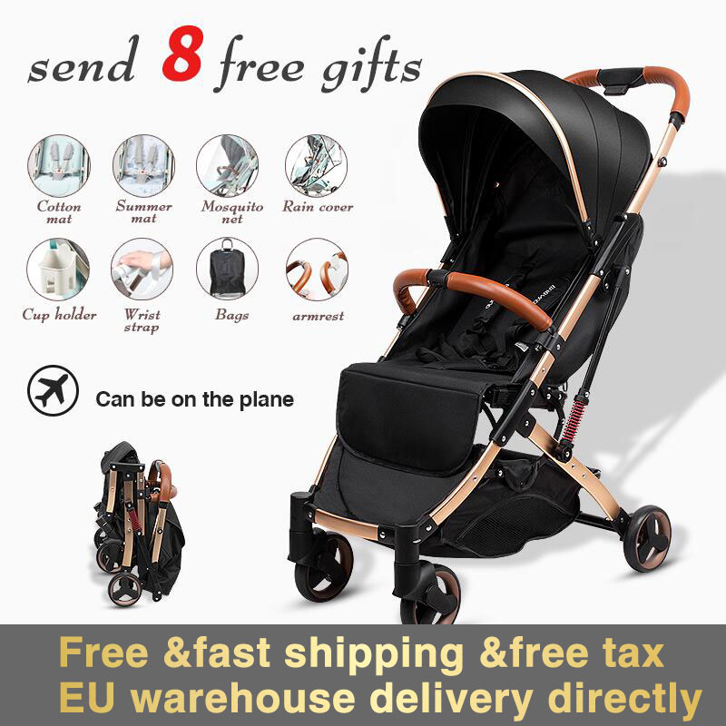 5.8 Kg Light Stroller High Landscape Carriage Portable Umbrella Baby Stroller Newborn Travelling Pram On Plane Free Shipping
