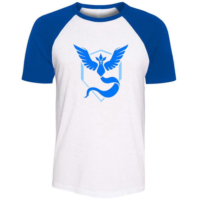 Pokemon Go Game Fans Articuno Team Blue Team Vaporeon Mens Guys Printing T Shirt Graphic Tee Short Sleeve Cotton Tshirts image