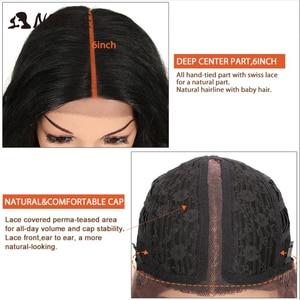 Image 5 - Perucas sintéticas de cosply da onda profunda longa americana cor de rosa da peruca da parte dianteira do laço sintético nobre ombre peruca loira 42 polegada
