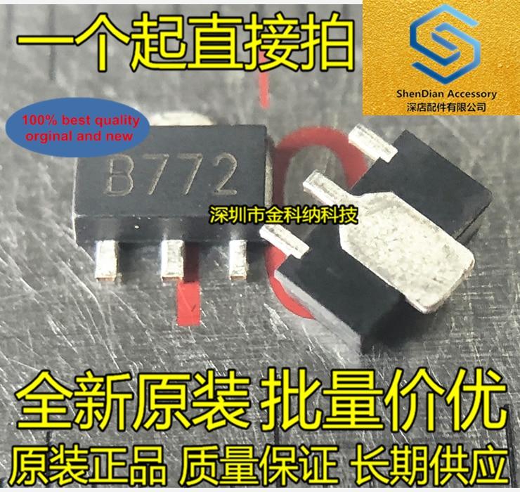 100pcs 100% Orginal New 2SB772 D882 1.5A --- 30V PNP SOT89 SMD Three-terminal Voltage Regulator Transistor Real Photo