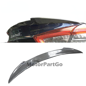 V Style Carbon Rear Tail Trunk Lip Wing Ducktail Spoiler for Maserati Quattroporte Boot Lip 2014-2018 T082 1
