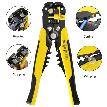 Crimper Cable Cutter Automatic Wire Stripper Multifunctional Stripping Tools Crimping Pliers Terminal 0.2-6.0mm2 tool crimping tool multifunctional cable crimping pliers wire stripper terminal cutter coaxial stripping tool hand tools