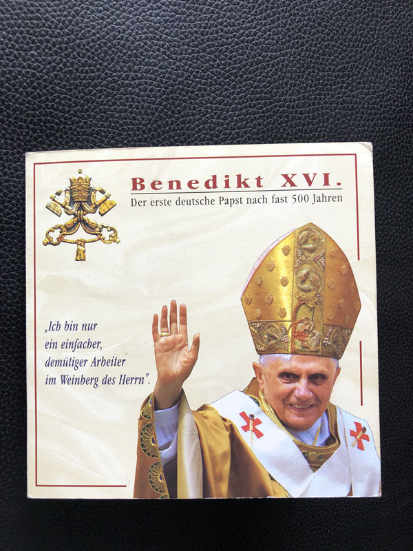 second hand 5pcs 2006 Somalia Pope Coin Not circulating original (Roman Catholic Emperor Benedict XVI) image