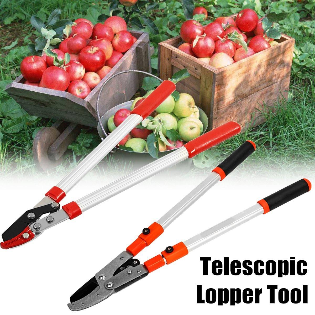 Telescopic Tree Ratchet Lopper Pruner Extending Garden Cutter Branch Shear Tools