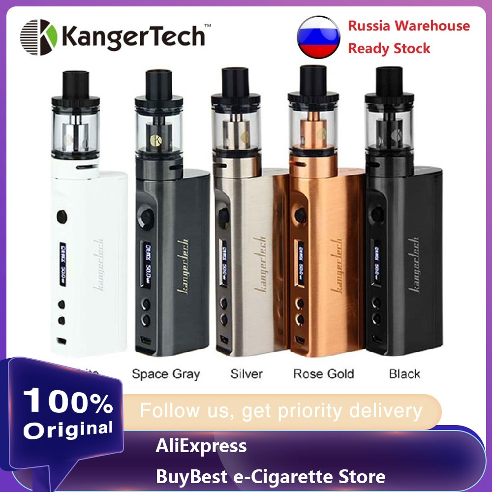 Original Kangertech Subox Mini-C Starter Kit 50W Box Mod W/ Protank 5 Atomizer With SSOCC Coil E Cigarette Kit No 18650 Battery