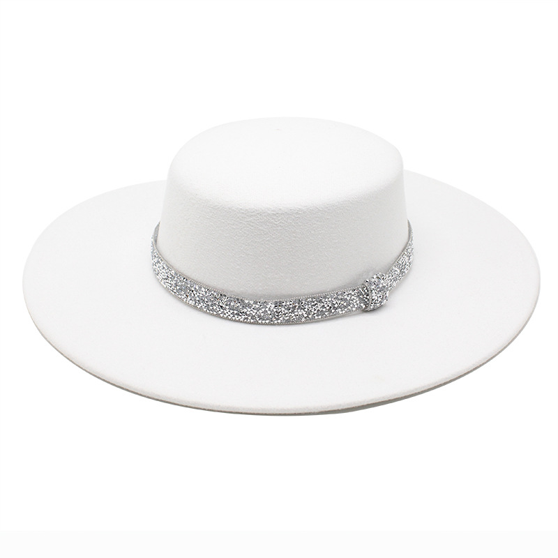 Large Felt Hat Women Men Fedoras Bulk Woman Man Big Brim Fedora Hats Ladies Flat Top Formal Cap Female Male Jazz Caps 2021 NEW