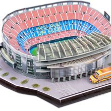 DIY 3D Трехмерная головоломка футбольный стадион Европейская футбольная площадка Модель Строительство кирпичная головоломка игрушки для детей