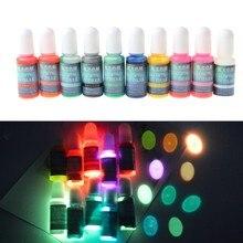 10 cores que brilham na fabricação de jóias luminosas do colorante do pigmento da resina da cola epoxy escura