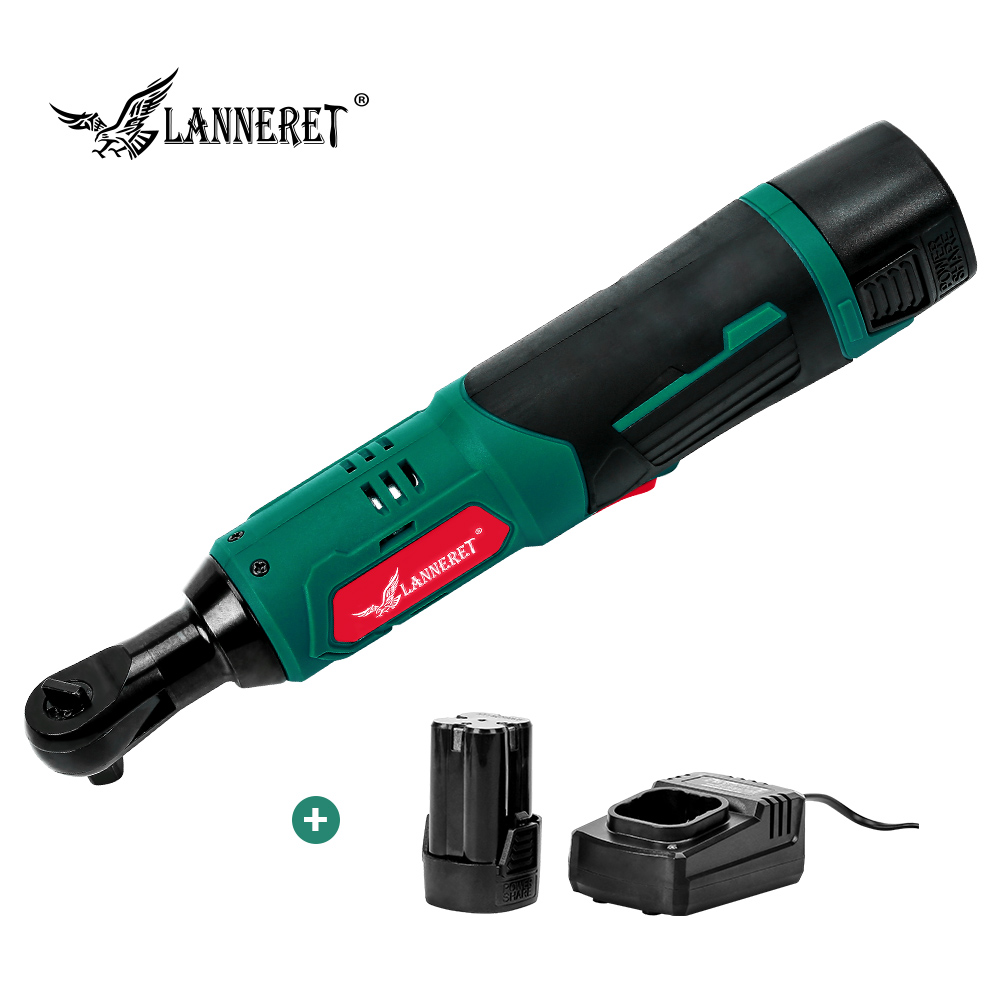 LANNERET Electric Ratchet Wrench Cordless Rechargeable Wrench 16.8V 3/8