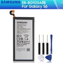 SAMSUNG-EB-BG920ABE de batería Original para Samsung GALAXY S6 G9200 G9208 G9209 EB-BG920ABA G920I G920 G920V/T/F/A, 2550mAh, SM-G920F