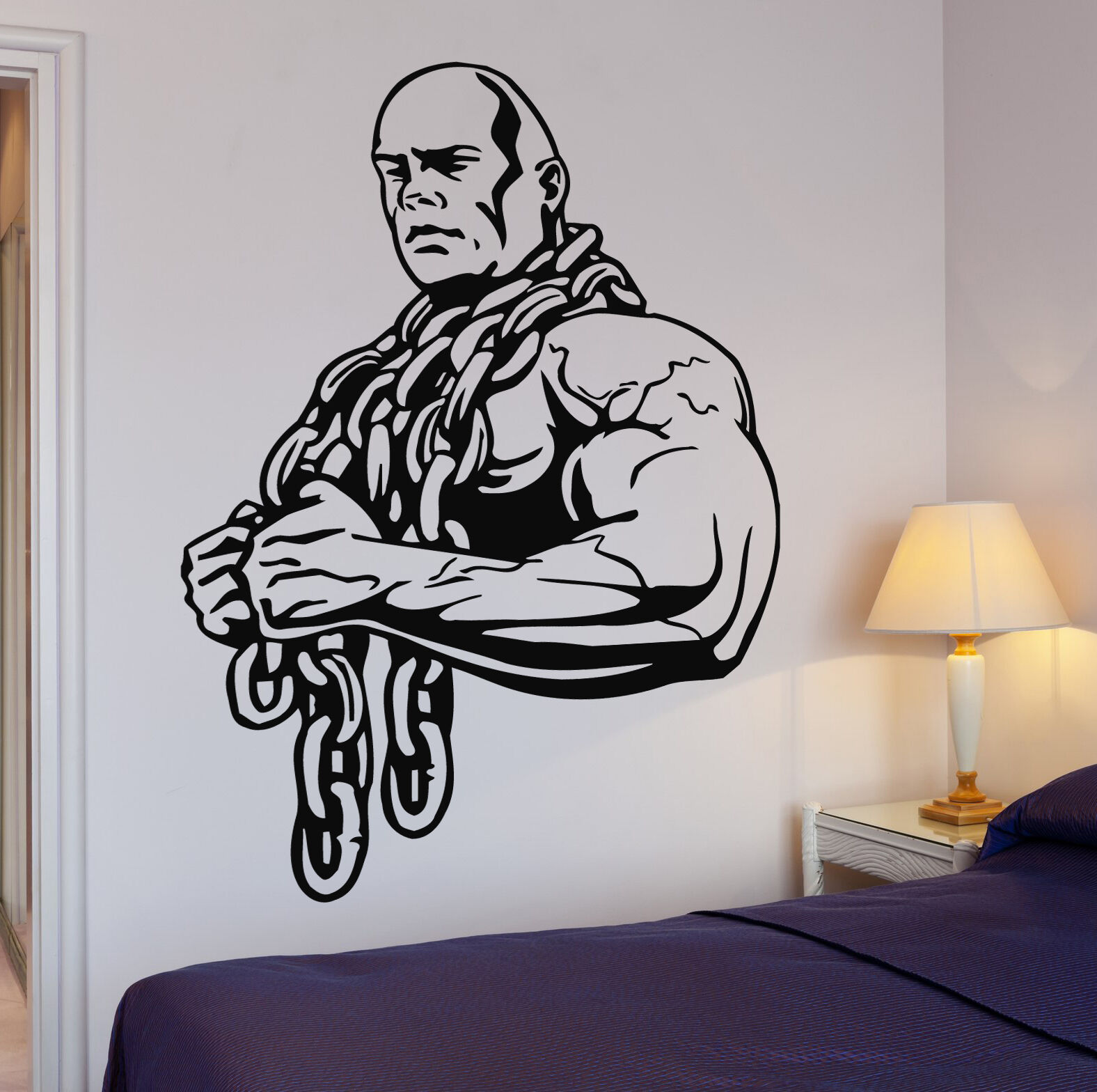 Sports bodybuilding wall decals gym wall decoration bodybuilding muscle men sport cool decoration living room bedroom decor js16