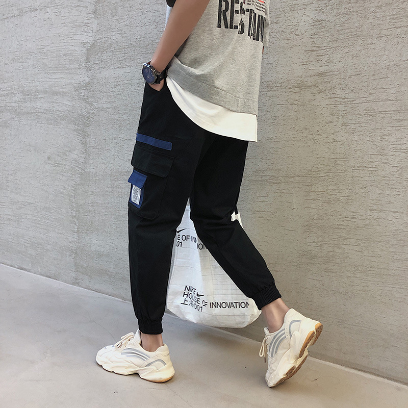 Casual Pants Men's 2019 Spring And Autumn New Style Korean-style Trend Casual Bib Overall Teenager Comfortable Workwear Skinny P