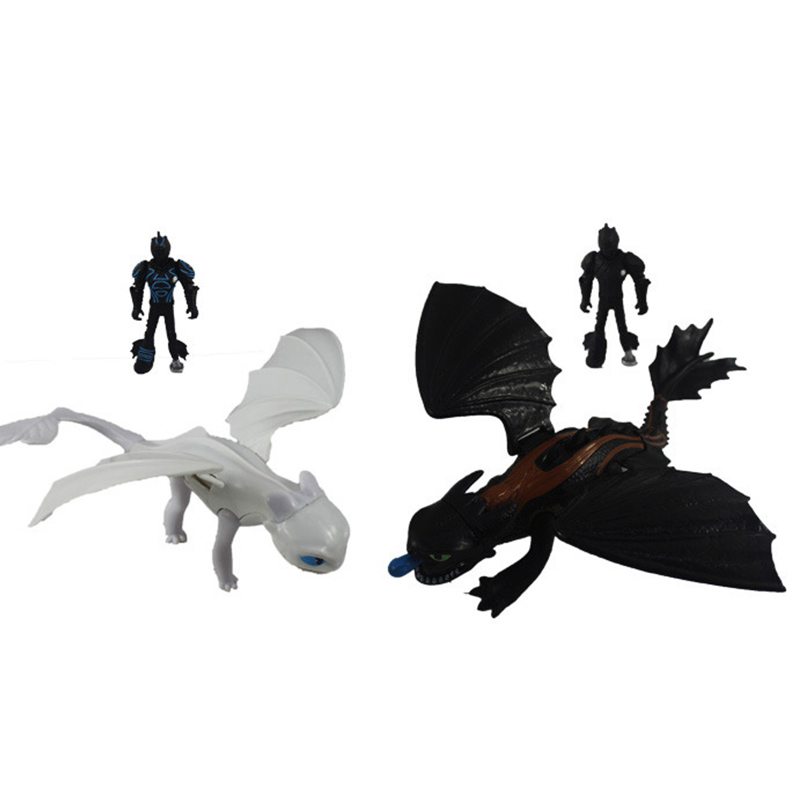 Hot 923cm Dragon Toothless Action figure Launch bullet New blind box Light Fury Toys