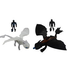 Hot 923cm Dragon Toothless Action figure Launch bullet New blind box Light Fury Toothless Toys printio toothless dragon wall stickers