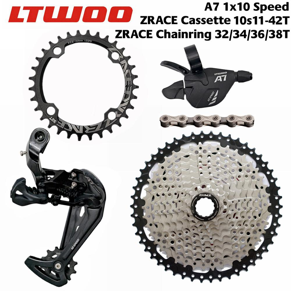 LTWOO A7 10 Speed Shifter Rear Derailleurs ZRACE Cassette 104BCD Chainring YBN 10S Chain Groupset for