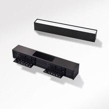 SCON 10 W Preto sem aro embutido feixe de 90 graus downlight linear profunda anti reflexo moderna barra de luz