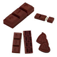 Lovely Silicone Chocolate USB Flash Drive 32GB love Sweet Pendrive memory stick 256GB 128 32 64 8 16 4 gb Pen Drive USB2.0 gift
