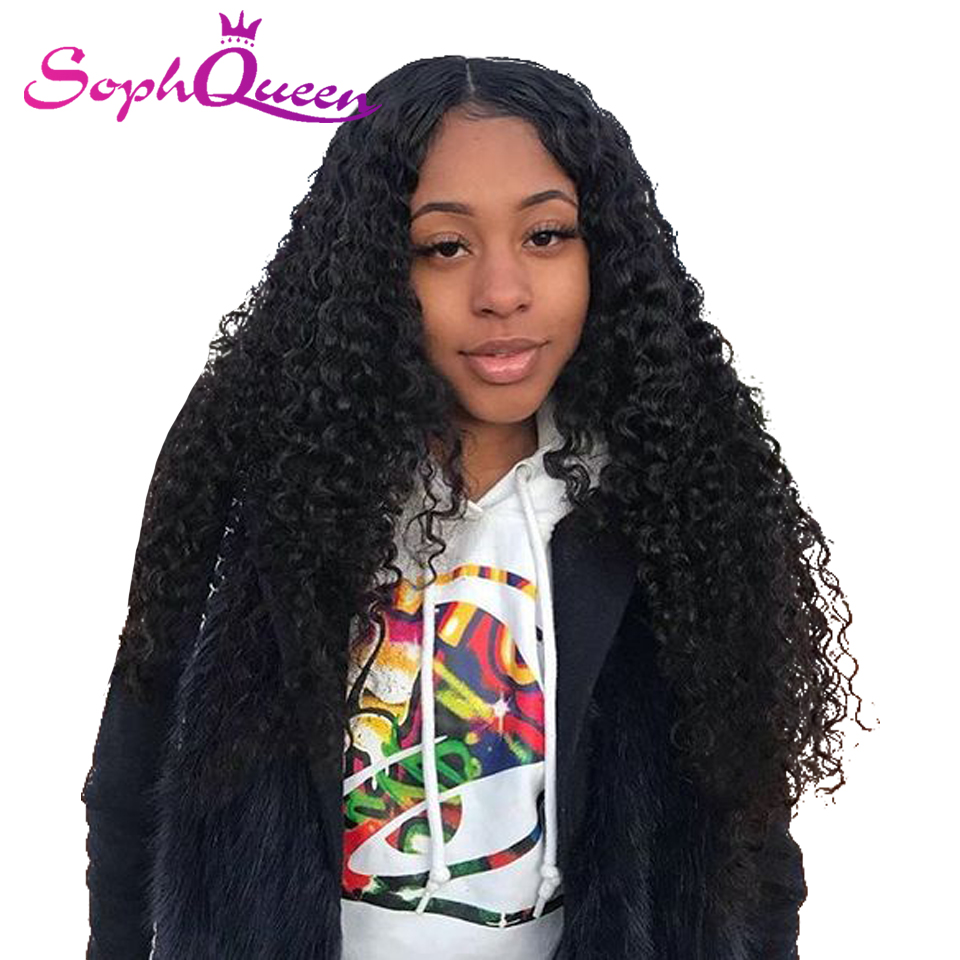 Soph Queen Deep Wave 4*4 Lace Closure Human Hair Wigs For Black Women Natural Color Brazilian Human Hair Wig