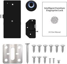 Black Security Keyless USB Rechargeable Smart Locks Cabinet Fingerprint Lock Biometric Digital Keyless Furniture Drawer Locks