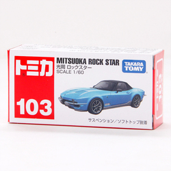 Takara tomy tomica no.103 mitsuoka rock 1/60 estrela metal diecast veículo modelo de carro brinquedo