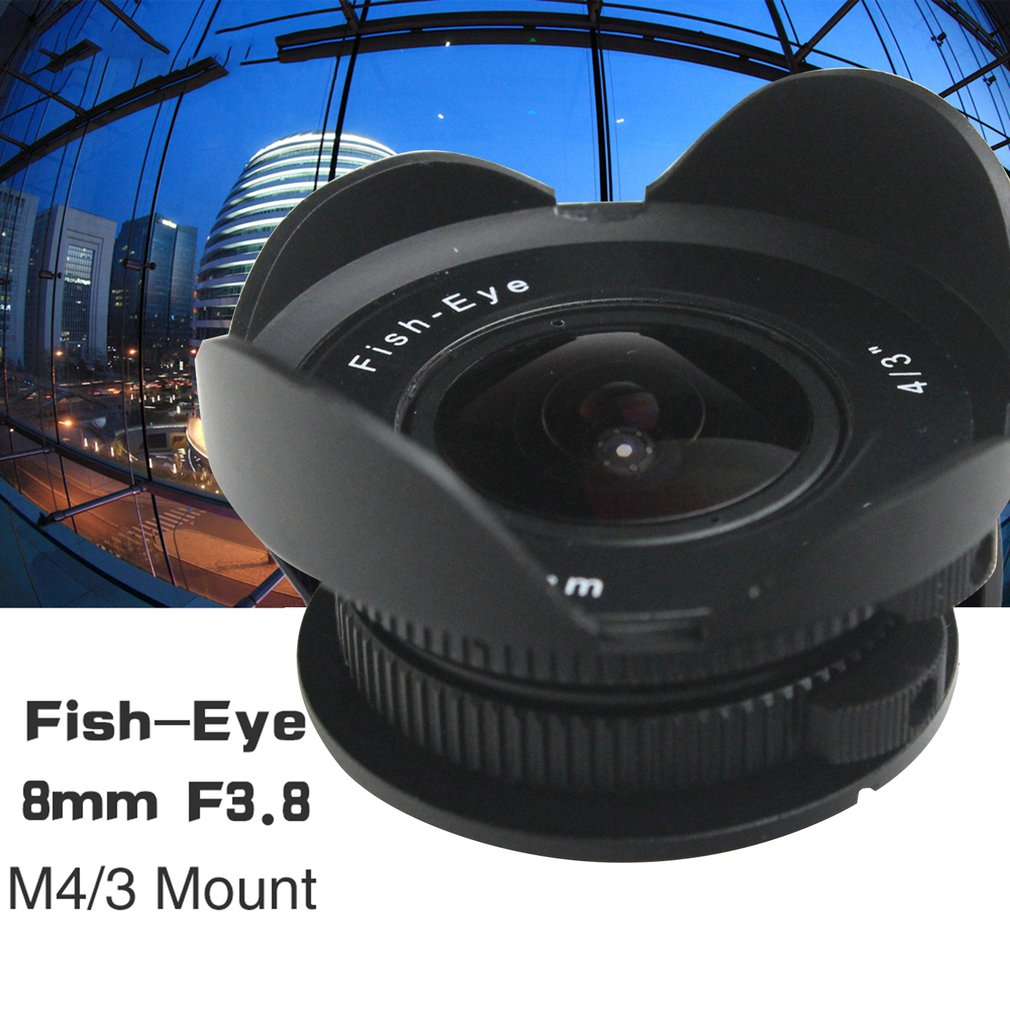8mm F3.8 Fish-eye C mount Wide Angle Fisheye Lens Focal length Fish eye Suit For Panasonic Olympus Micro Four Thirds M4/3