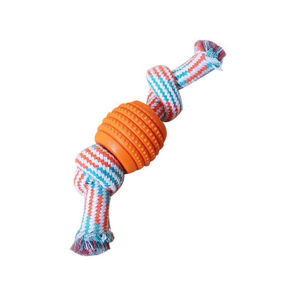 جرو الكلب لعب مستلزمات الحيوانات الأليفة مضفر العظام حبل القطن شكل الحلوى عقدة مضغ شكل الحلوى أدوات تنظيف الأسنان حبال القطن