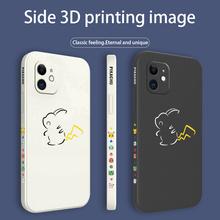 Pokemon pokrowiec na iPhone 12 Pro Max 11 X XS XR XSMAX SE2020 8 8Plus 7 7Plus 6 6S Plus płynny silikonowy pokrowiec tanie tanio APPLE CN (pochodzenie) Częściowo przysłonięte etui Cartoon W stylu rysunkowym
