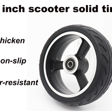 high quality 5 inch electric motorcycle scooter tire rubber wheel and plastic hub solid tire non pneumatic Wheel