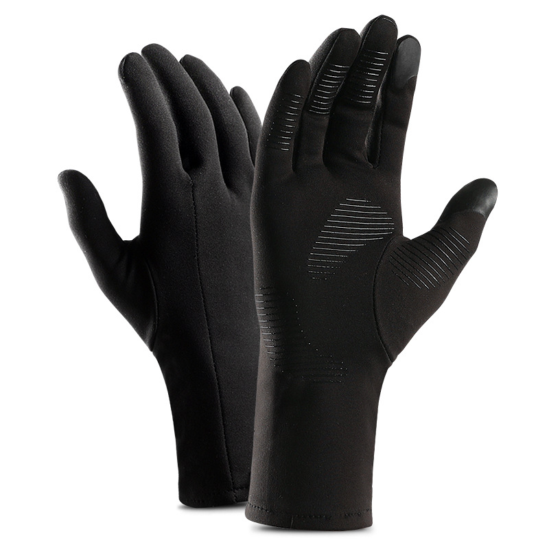 Купить длинные перчатки для езды на велосипеде зимние гелевые теплые