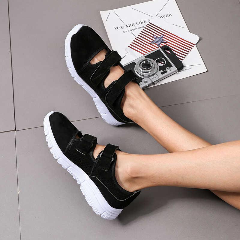 2019 bahar kadın nefes spor ayakkabı seksi yuvarlak ayak kalın alt spor ayakkabı kadın rahat ayakkabılar kadın file sutyen koşu ayakkabıları