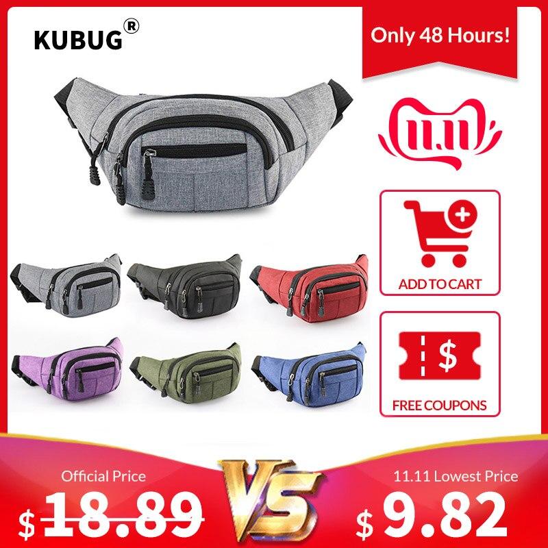 KUBUG New Multi-functional Waterproof Waist Bag Outdoor Sports Running Bag Men WOMEN Wear-Resistant Money Cash Storage Bag