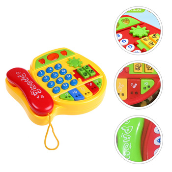 1 Set Simulation Cell Phone Toy Lovely Funny Playing Toy Educational Learning Cell Phone Music Machine Electronic Toys For Kids 1