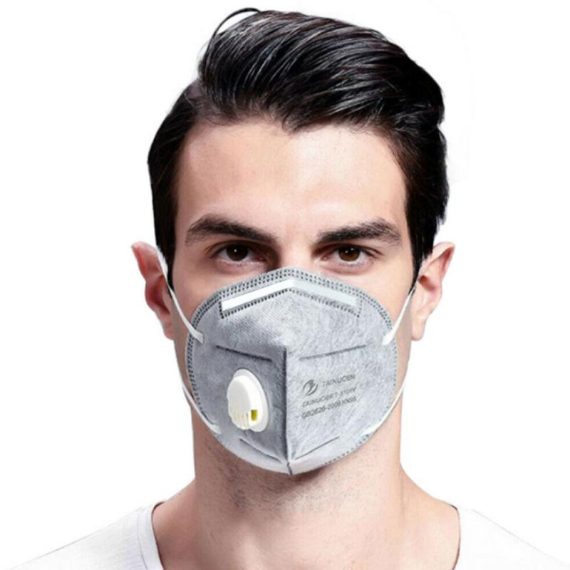 20 Pcs Disposable KN95 Masks Anti-bacterial Breathable Anti-dust Sanitary Valved Face Mask Protection Face Mask Grey White
