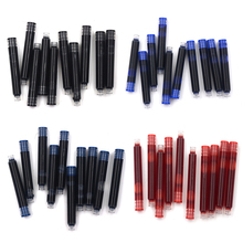 10pcs Blue And Black  Ink Cartridge Refills Fountain Pen Assurance Universal Typ Other Brands Are Also Suitable