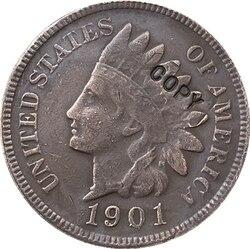 1901 индийская голова центов копия монет