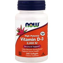 Free shipping High Potency Vitamin D-3 2,000 Iu Structural Helps Maintain Strog Bones Supports Dental Health 240 Softgels