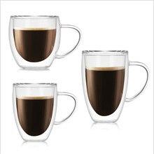 Термостойкая стеклянная кофейная чашка с двойными стенками, ручная работа, молочная креативная пивная кружка, чай, Офисная домашняя настольная стаканы для виски, посуда для напитков JY004
