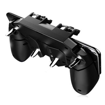 AK66 Six Finger All-in-One Mobile Game Controller Free Fire Key Button Joystick Gamepad L1 R1 Trigger for PUBG