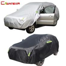 Cawanerl Waterproof Car Cover Outdoor Sun Anti UV Rain Snow Resistant All Season Suitable Auto Covers For SUV Hatchback Sedan