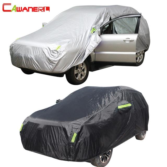 Cawanerl wodoodporna osłona na samochód na zewnątrz słońce anty UV deszcz odporny na śnieg cały sezon nadaje się Auto pokrowce na SUV hatchback sedan