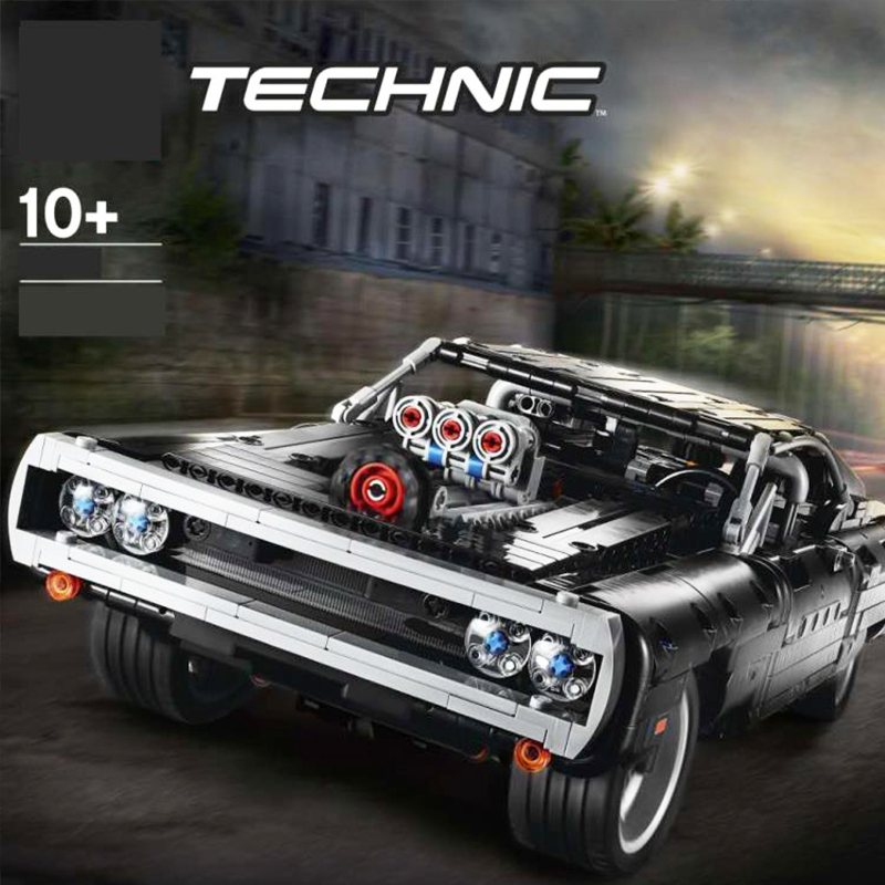 2020 Lepining Technic Car Series Supercar Dom's Dodged Charger 42111 Model Lepinblocks Building Blocks Bricks Toy