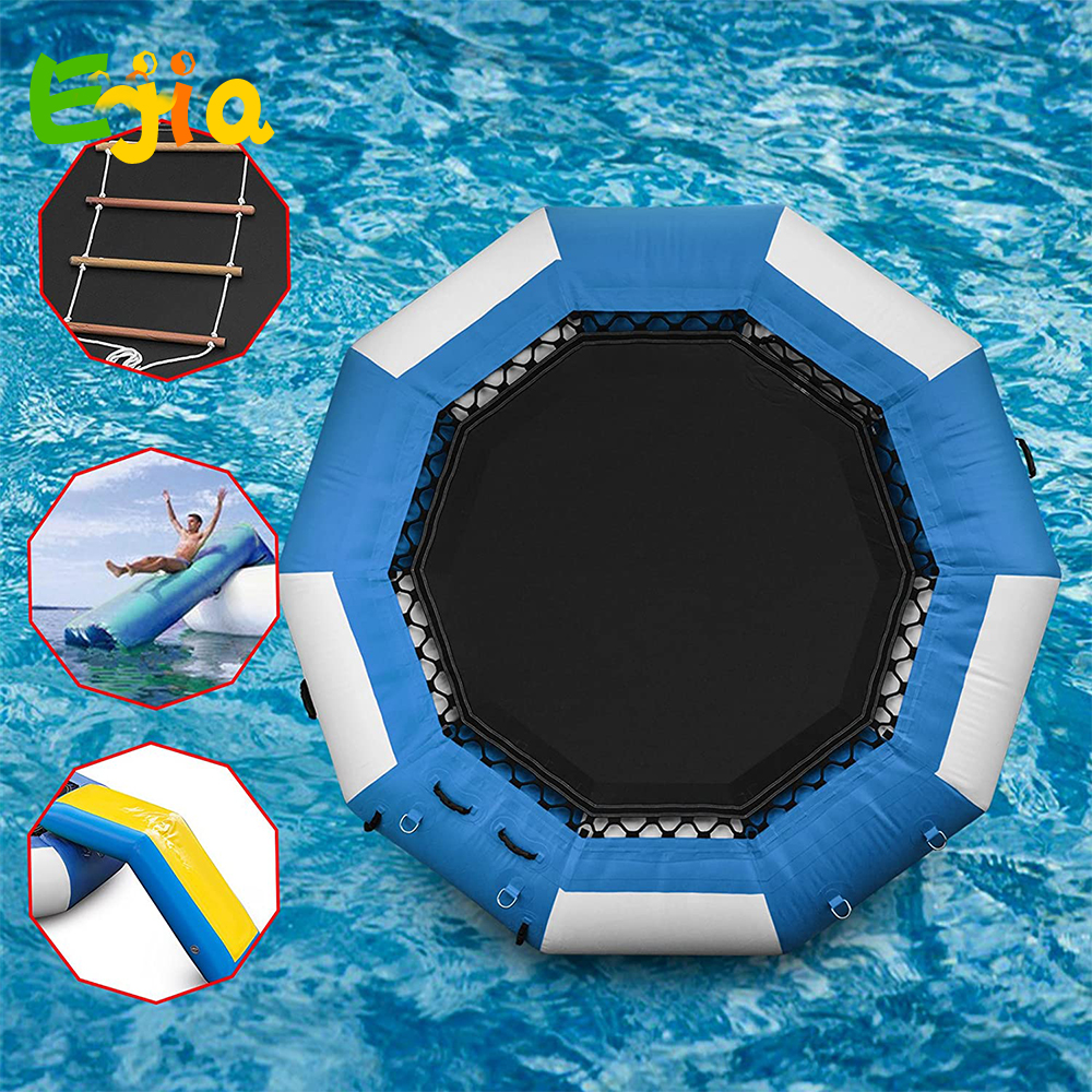 Inflatable Water Trampoline 0.9mm PVC Inflatable Water Bouncer Jumping Bed Summer Toy For Pool Water Game