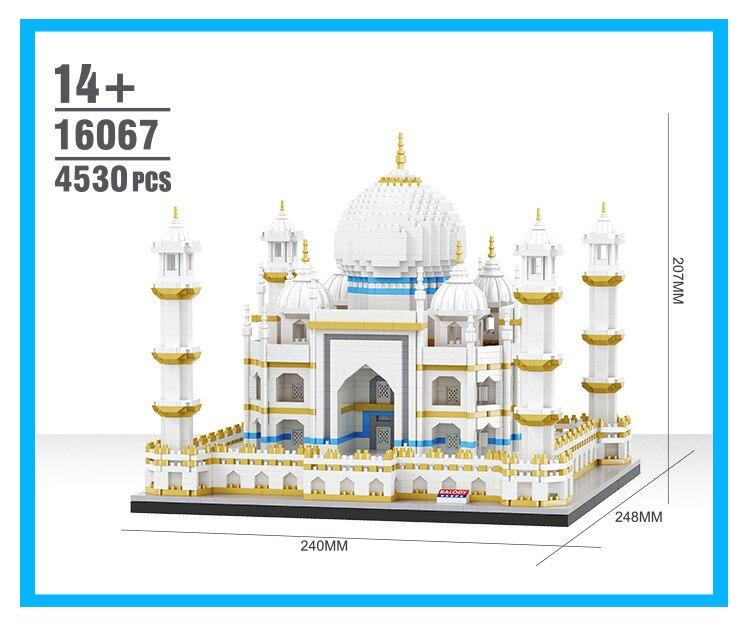 Balody World Famous Architecture Diamond Building Blocks Toy Taj Mahal Vassili Church Big Ben London Bridge 17