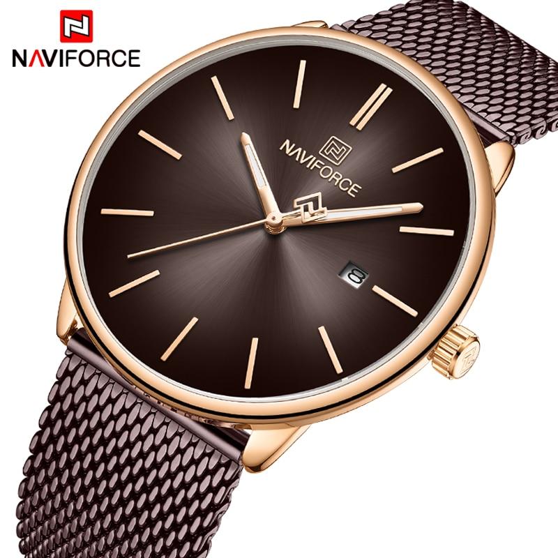 New Men Watch NAVIFORCE Fashion Simple Quartz Mens Watches Top Brand Luxury Stainless Steel Waterproof Clock Male Sport Relogio