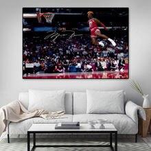 Баскетбольный постер с Майклом jordan flying dunk Картина Настенная
