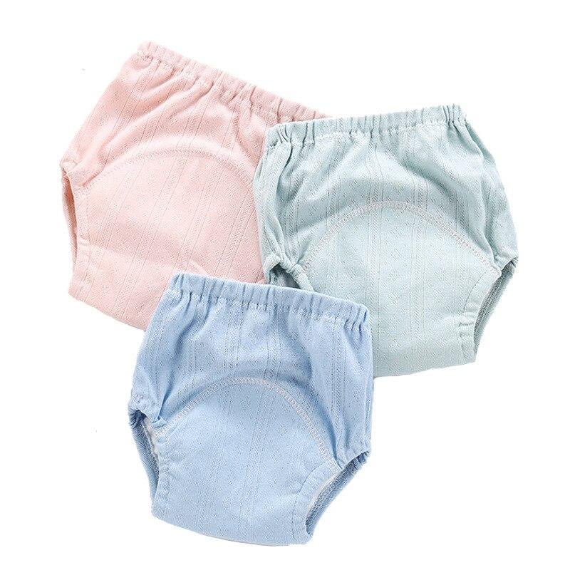 Newborn Boys Girls Reusable Waterproof Solid Color Baby Cloth Diaper Pocket Baby Nappies