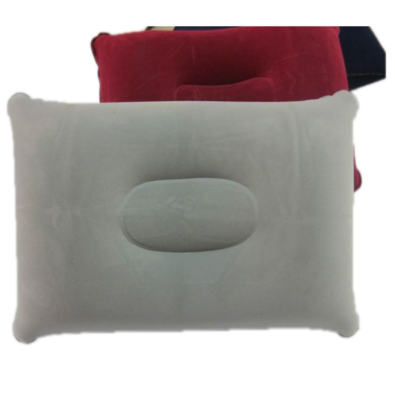 2020 New Portable Pillow Travel Air Cushion Inflatable Sided Flocking Cushion Camp Beach Car Plane Hotel Head Rest Bed Sleep
