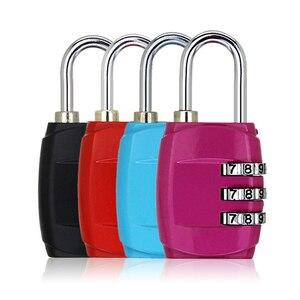 Luggage Travel Lock 3 Dial Travel Padlock Simple Door Lock Password Lock Combination for Luggage Suitcase Baggage Gym Locker