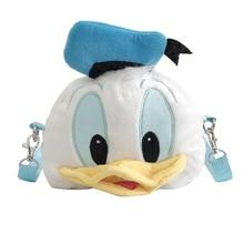 Disney women Cute Donald Duck Plush Doll Phone Messenger Bag lady cartoon doll messenger bag coin bag